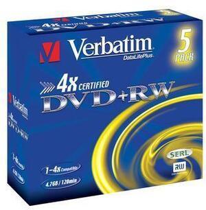 Verbatim DVD+RW Jewel 4.7GB 43229