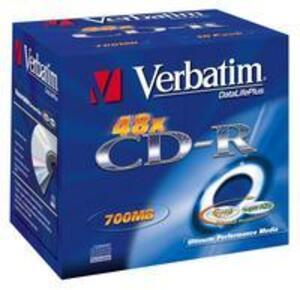 Verbatim CD-R 700MB 52xspd Jewel Case 10 Stück 43327