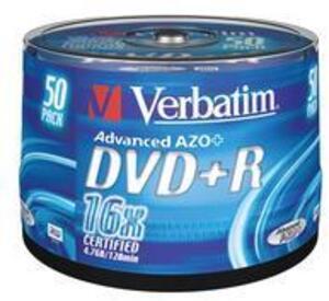 Verbatim DVD+R Spindle 4.7GB 43550