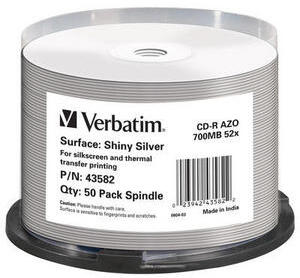 Verbatim CD-R Spindle 80MIN/700MB 43582