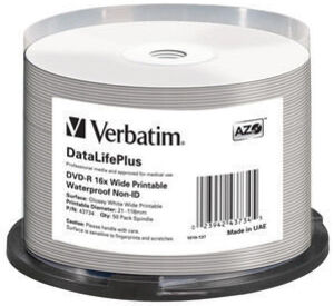Verbatim DVD-R Medien 4.7GB,16x,50er Spind 43734