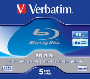 Verbatim BD-R Jewel white/blue 50GB Verbatim;43748