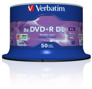 Verbatim DVD+R 8x Double Layer 8.5GB,50er S 43758