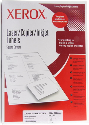 Rds electronics in der xerox kategorie papier folien for Xerox label templates