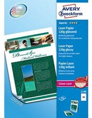 AVERY Zweckform 1198 Superior Colour Laser Papier, DIN A4, beidseitig beschichtet, 120 g/m², 200 Bl 1198