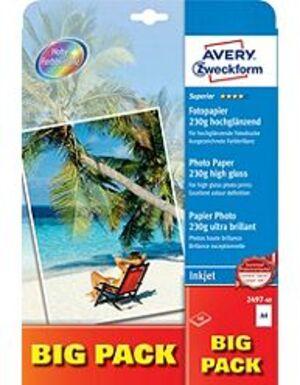 AVERY Zweckform 2497-40 Superior Inkjet Fotopapier, DIN A4, einseitig beschichtet, 230 g/m², 40 Bla 2497-40