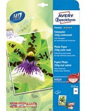 AVERY Zweckform 2559-20 Premium Inkjet Fotopapier, DIN A4, einseitig beschichtet, 250 g/m², 20 Blat 2559-20