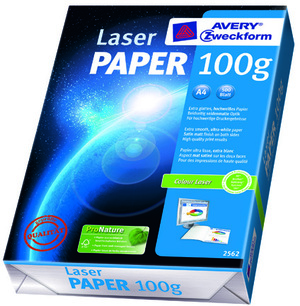 AVERY Zweckform 2562 Drucker- und Kopierpapier, DIN A4, unbeschichtet, 100 g/m², ColorLok® Technologie, 500 Blatt Zweckform;2562