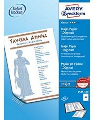 AVERY Zweckform 2585-150 Classic Inkjet Papier, DIN A4, beidseitig beschichtet, 100 g/m², 150 Blatt 2585-150