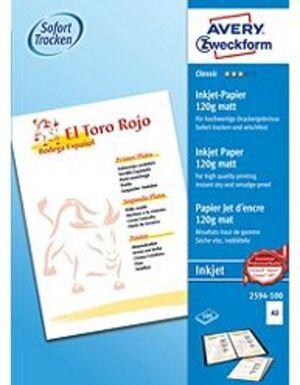 AVERY Zweckform 2594-100 Classic Inkjet Papier, DIN A3, einseitig beschichtet, 120 g/m², 100 Blatt 2594-100