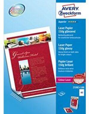 AVERY Zweckform 25983-100 Superior Colour Laser Papier, DIN A3, beidseitig beschichtet, 150 g/m², 1 25983-100