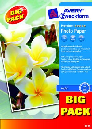 AVERY Zweckform 2739 Premium Inkjet Fotopapier, DIN A4, beidseitig beschichtet, 250 g/m², 40 Blatt 2739