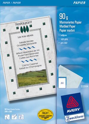 AVERY Zweckform 32084 Design Papiere, DIN A4, unbeschichtet, 90 g/m², 50 Blatt 32084