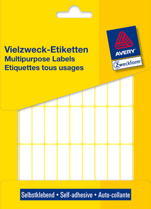 AVERY Zweckform 3320 Vielzweck Etiketten, 32 x 10 mm, 26 Bogen/1.144 Etiketten, weiss 3320
