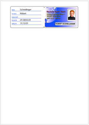 AVERY Zweckform Ausweis Etiketten mit Perforierung in der Mitte zum zusammenkleben 38285