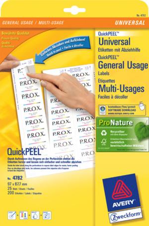AVERY Zweckform 4782 Universal-Etiketten, 97 x 67,7 mm, Deutsche Post INTERNETMARKE, 30 Bogen/240 Etiketten, weiss 4782