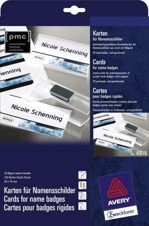 Karten für Namenschilder, 4819Z99