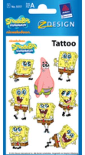 AVERY Zweckform Z-DESIGN Tattoo Spongebob 55117