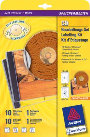 AVERY Zweckform CD-Beschriftungs-Set 6407