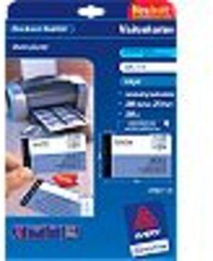 AVERY Zweckform C32015-25 Premium Visitenkarten, 85 x 54 mm, beidseitig beschichtet, 200 Karten / 25 Bogen C32015-25