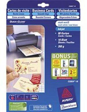 AVERY Zweckform Visitenkarten Click & Clean C32024-10