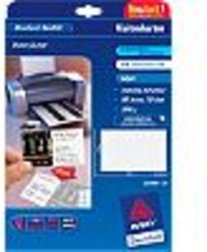 AVERY Zweckform C32096-10 Premium Visitenkarten, 85 x 54 mm, beidseitig beschichtet, 80 Karten / 10 C32096-10A1