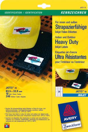 AVERY Zweckform Avery Folien-Etiketten J4773-10 J4773-10