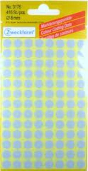 AVERY Zweckform Etikette 8 mm Markierungspunktgrau 416 St Zweckform;3176