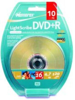 Memorex light scribe DVD+R 120 min. / 4.7GB 16x 10er-Pack Blister M00617