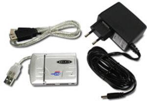 Belkin Belkin F5U238EASLV-MOB USB 2.0 Travel Hub, silber F5U238EASLVMOB