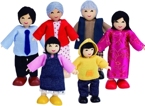 Hape Puppenfamilie asiatisch 6tlg. 46E3502A