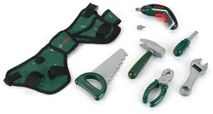 klein Werkzeug Gürtel Bosch mit Ixolino Akku, Hammer, Säge, Zange etc. ab 3+ 29250313