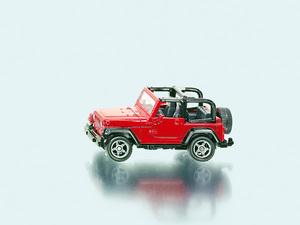 Siku Jeep Wrangler 1:64, Metall, Plastik Siku Siku;1342