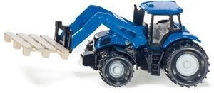 Siku Traktor mit Palettengabel und Palette, Siku Super, Metall/Kunststoff 1487A1