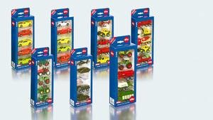 Siku Traktorenset ass. 5 Stück Metall, Kunststoff, 1:50, Siku Geschenkset 62867