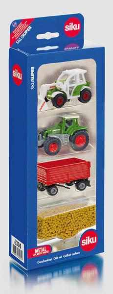 Siku Landwirtschaftset, 3-teilig Metall/Plastik, Siku Geschenkset 6304