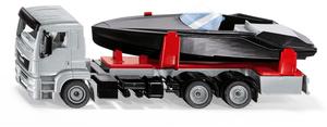 Siku MAN LKW mit Motorboot 1:50, 25.5x9.7x6.6 cm, Metall/Kunststoff 30092715