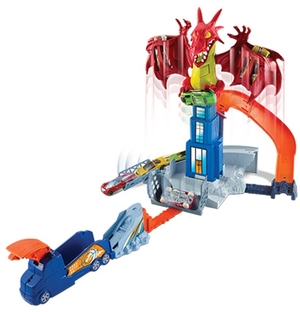 Hot Wheels Drachen-Attacke Spielset Hot Wheels, 1 Fahrzeug inkl. ab 4 Jahren 30301004