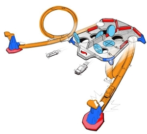 Hot Wheels Rebound Raceway mit 2 Looping-Startern, ab 4 Jahren 30318027