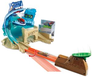Hot Wheels Hai-Attacke inkl. 1 Fahrzeug, kompatibel mit anderen City Sets, ab 5+ 30318121