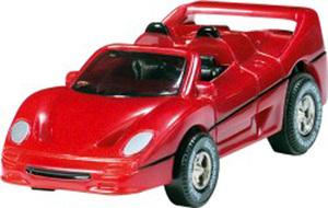 Darda Motor Darda Auto F50 Sportwagen ca. 9.5 cm, mit Rückzugmotor passend zu allen Dardabahnen 31950305