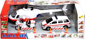 Dickie Spielzeug Polizei Set 9tlg. Helikopter mit Sound Fahrzeuge Freilauf 33613326