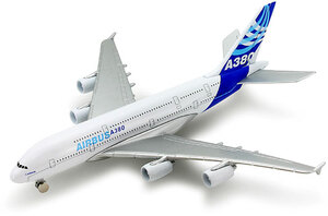 Flugzeug Airbus A380 Metall, Kunststoff, L: ca. 15 cm 33630985