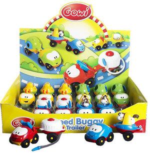 Speed Buggy mit Anhänger ohne Antrieb, Display mit je 12 Autos und 12 Anhäger 34010638