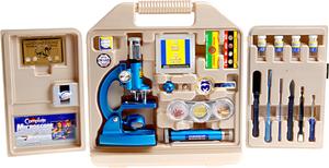 Mikroskop im Plastikkoffer 69 Teile, ab 8 Jahren, Batterie 2xAA(LR6) exkl. 37610077