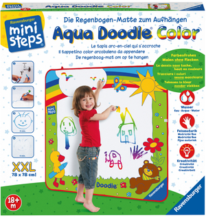 Ravensburger Aqua Doodle XXL Color, d/f/i Regenbogenmatte 78x78 cm, ab 18 Mt. 40104545