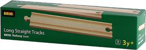 BRIO Gerade lange Gleise 4 Stück, 216 mm, Holz, passend zu allen Briobahnen 40233341