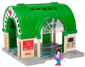 BRIO Hauptbahnhof mit Ticket- automat, Brio, 2-teilig, 23x21.8x17 cm, ab 3+ 40233649