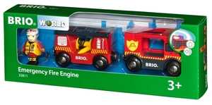 BRIO Feuerwehr Leiterfahrzeug mit Licht und Sound, 17.4x4x4.9 cm, 3-teilig 40233811