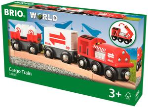 BRIO Grosser Güterzug 7-teilig, 219x34x51 mm, Lok mit zwei Waggons, ab 3+ 40233888